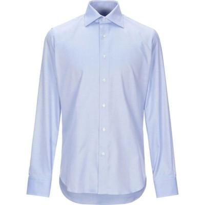 シリオ SIRIO メンズ シャツ トップス Patterned Shirt Azure