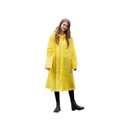 SUKIYO レディース メンズ 魔法レインコート レインコート ポンチョ かっぱ 通勤通学 収納袋付き 防風防水 防塵防雪 男女兼用 (黄色 XL)