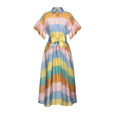 TATA-NAKA 7分丈ワンピース・ドレス スカイブルー 8 シルク 100% 7分丈ワンピース・ドレス