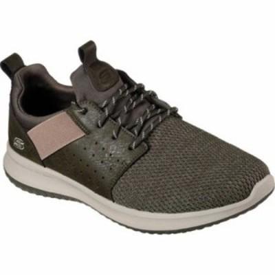 スケッチャーズ スリッポン・フラット Delson Camben Slip-On Sneaker Olive