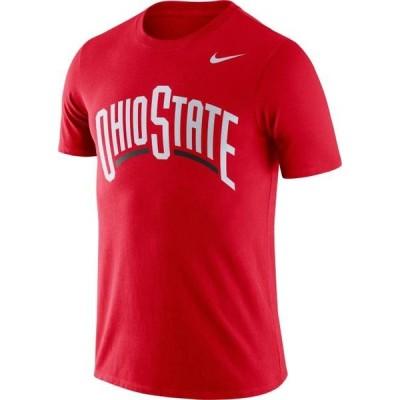 メンズ スポーツリーグ アメリカ大学スポーツ Nike Men's Ohio State Buckeyes Scarlet Dri-FIT Cotton Word T-Shirt Tシャツ