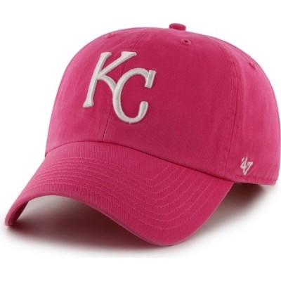 フォーティセブン 47 レディース キャップ 帽子 ' Kansas City Royals Pink Clean Up Adjustable Hat