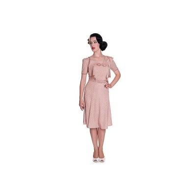 ヘルバニー ドレス ワンピース Hell Bunny Pastel Polka Dot ビンテージ 1940s Wartime WW2 サマー Tea パーティ ドレス UK