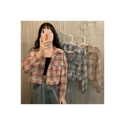【送料無料】春 韓国風 ファッション レトロ ポケット シャツ 何でも似合う | 364331_A64805-2605858