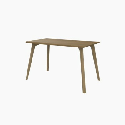 送料無料 ダイニングテーブル (W1200 天板:ホワイトオーク 脚:ピーチ) - CROSS