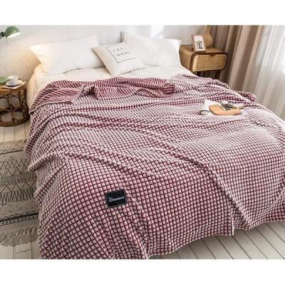 2020新作毛布ブランケット100cm×70~200cmx230チェックボーダー裏表の柄が違うリバーシブル無地北欧