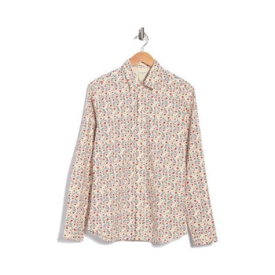 セレクテッドオム メンズ シャツ トップス Slim Fit Allover Print Shirt EGRET AOP