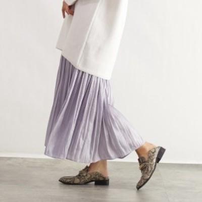 オゾック(OZOC)/[洗える]オーロラサテンマキシスカート