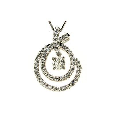 プラチナ ダイヤモンド デザインネックレス 0.336カラット 鑑定書付き Fカラー SI2 GOOD 周り0.620カラット チェーンサイズ0.7