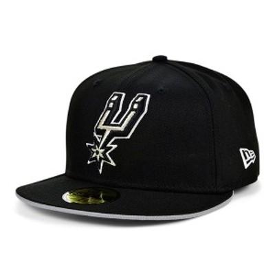 ニューエラ レディース 帽子 アクセサリー San Antonio Spurs Black Gray Pop 59FIFTY Cap Gray