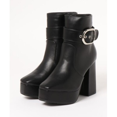 Mafmof / Mafmof(マフモフ) 2Wayベルト付き厚底 ショートブーツ WOMEN シューズ > ブーツ