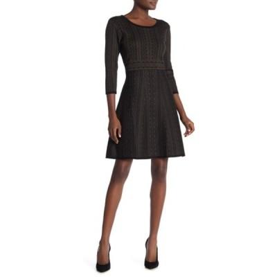 ニナレオナルド レディース ワンピース トップス Geometric Print Sweater Dress OLVBLK