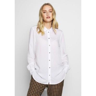マイン トゥ ファイブ トム テイラー シャツ レディース トップス SHEER STRUCTURE BLOUSE - Button-down blouse - white