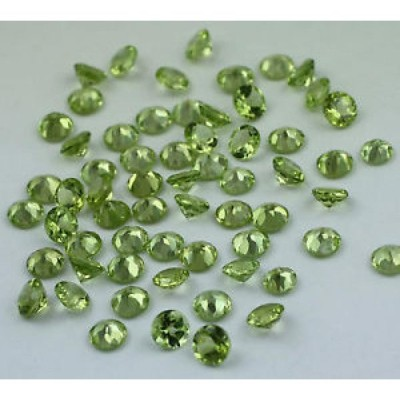 【海外からのお取り寄せ】ペリドット PERIDOT 21.93 CT. ROUND SHAPE 4.5 MM SIZE WHOLESALE LOT OF 62 PIECE OF GEMSTONE