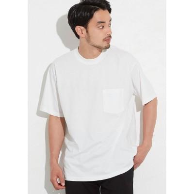コカ coca シルキーコットン胸ポケットTシャツ (White)