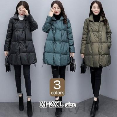 ダウンコートレディース秋冬アウターあったか40代ダウンジャケット中綿ロングコート大きいサイズ防寒30代50代暖かいおしゃれ可愛い