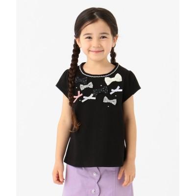 【80-130cm】ランダムリボン 半袖Tシャツ