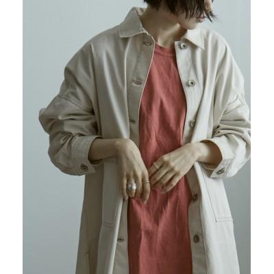 Fashion Letter / ビッグシルエット コットンシャツジャケット アウター 21SS WOMEN ジャケット/アウター > ミリタリージャケット
