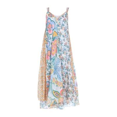 OTTOD'AME ロングワンピース&ドレス ホワイト 42 コットン 72% / シルク 28% ロングワンピース&ドレス