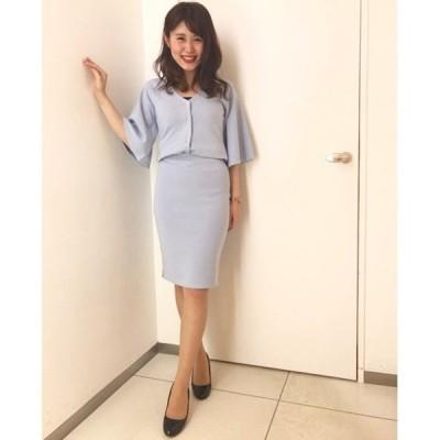 【セットアップ対応商品】サイドスリットタイトスカート