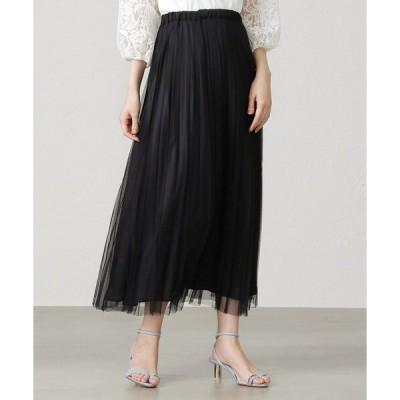 スカート <2WAY>チュールギャザースカート