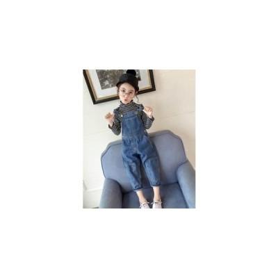 サロペット子ども長ズボン女の子デニム春子供服ジュニアキッズベビーオーバーオールオールインワンカジュアル2019