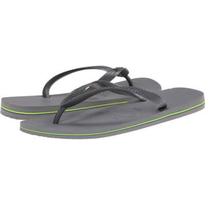 ハワイアナス Havaianas メンズ ビーチサンダル シューズ・靴 Brazil Flip Flops Steel Grey