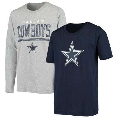 """キッズ Tシャツ """"Dallas Cowboys"""" Youth T-Shirt Combo Set - Navy/Gray"""