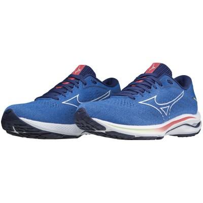 MIZUNOシューズ ジョギング ウエーブライダー 25 J1GD210387ブルー×ホワイト