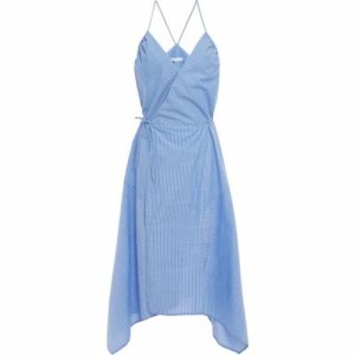 ジョア JOIE レディース ワンピース ラップドレス ミドル丈 ワンピース・ドレス hepzibah asymmetric striped cotton-voile midi wrap dr