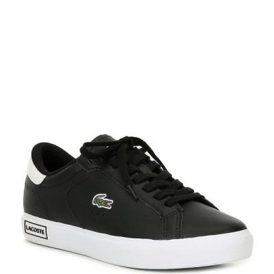 ラコステ レディース スニーカー シューズ Women's Powercourt 0520 Leather Sneakers Black/White