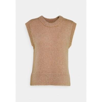 ピーシーズ トール Tシャツ レディース トップス PCGRETA O NECK VEST - Print T-shirt - warm taupe
