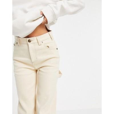 ディッキーズ Dickies レディース ボトムス・パンツ ワークパンツ Ellendale carpenter trousers in ecru クリーム