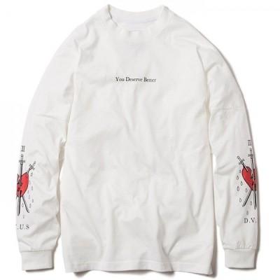 Deviluse Deserve Better Dropshoulder L/S T-shirts(White)