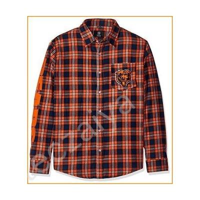 FOCO NFL Chicago Bears Wordmark Basic Flannel Shirt Extra Large並行輸入品