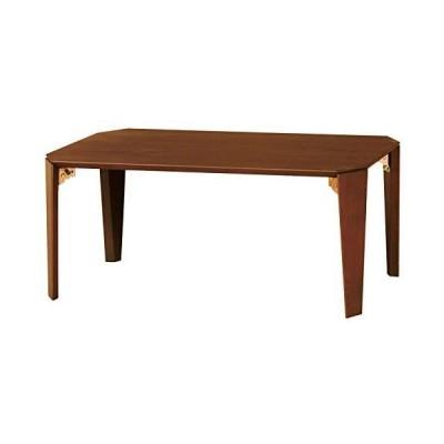 弘益 ローテーブル(折脚) ブラウン LT-TK750(BR) (ブラウン 82×55×10cm)