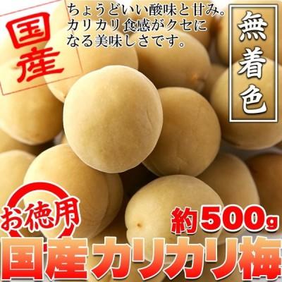 ※リニューアル※国産梅100%使用。無着色☆お徳用国産カリカリ梅500g