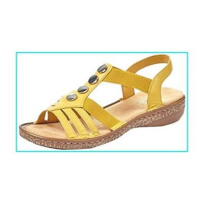 Rieker Women's, 62831 Sandal Yellow 40 M【並行輸入品】