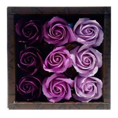 お花のカタチの入浴剤 ローズフレグランス 9輪入り ローズL 753183