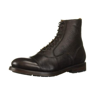 FRYE Men's Bowery Bal Lace Up Fashion Boot, Dark Brown, 11 M US