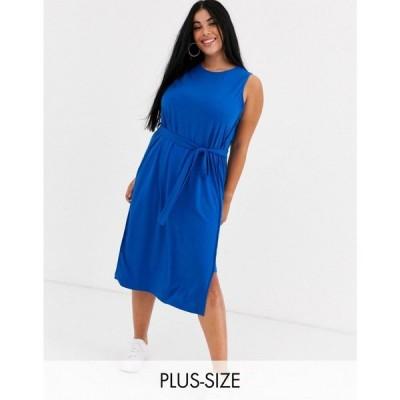 アイ シーナリー i.Scenery レディース ワンピース ミドル丈 ワンピース・ドレス I. Scenery Double Layer Midi Dress ブルー