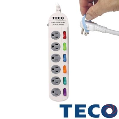 TECO東元 六開六插轉接電源線組 XYFWL260R6