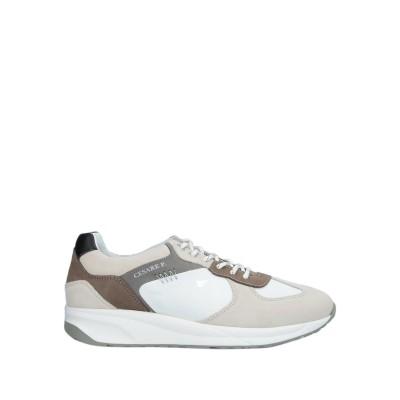 CESARE P. スニーカー&テニスシューズ(ローカット) ライトグレー 40 革 / 紡績繊維 スニーカー&テニスシューズ(ローカット)