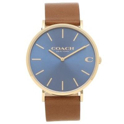コーチ メンズ 時計 腕時計 CHARLES 41MM COACH 14602473 ブラウン ブルー【返品OK】