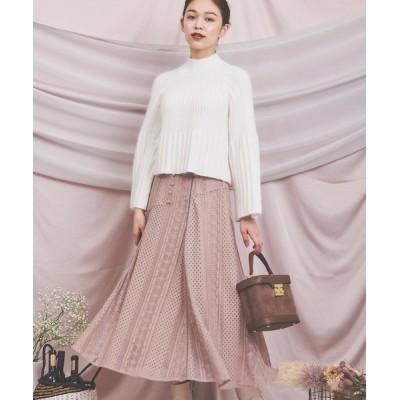 Noela / 切替フレアレーススカート WOMEN スカート > スカート