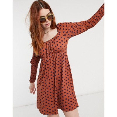 ミスセルフリッジ ミニドレス レディース Miss Selfridge polka dot mini dress in red エイソス ASOS レッド 赤
