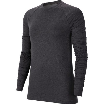 ナイキ シャツ トップス レディース Nike Women's Pro Warm Long Sleeve Shirt OilGrey