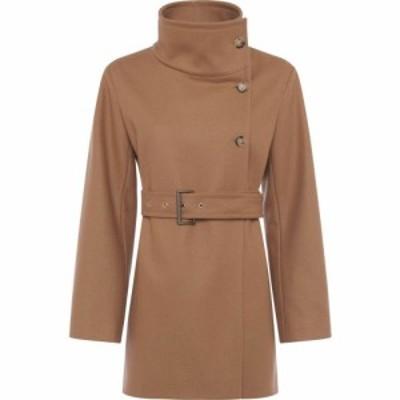フレンチコネクション French Connection レディース コート ラップコート アウター Ricio Platform Wool Wrap Coat Camel