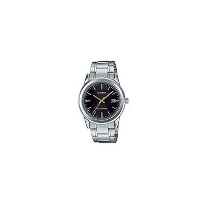 Casio MTP-VS01D-1A メンズ スタンダード ソーラーパワー ステンレススチール ブラックダイヤル 日付 腕時計