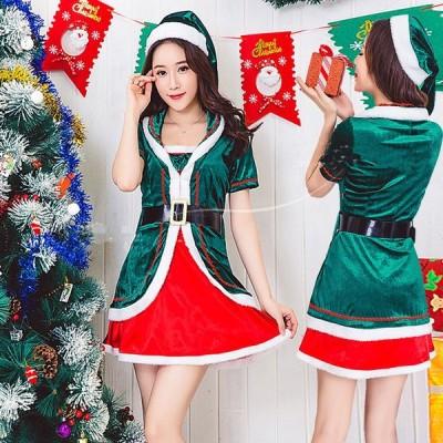 サンタ コスプレ クリスマス豪華衣装 セット サンタクロース セクシー   セクシーサンタ ロンパース サンタコス コス コスチューム サンタコスチューム レディー